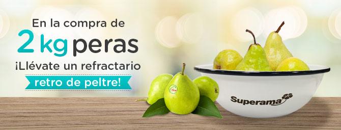 Superama: gratis refractario retro comprando 2 kilos de peras