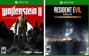 Amazon: Wolfenstein II: The New Colossus ($382), Resident Evil 7 Gold Edition ($573) para Xbox One