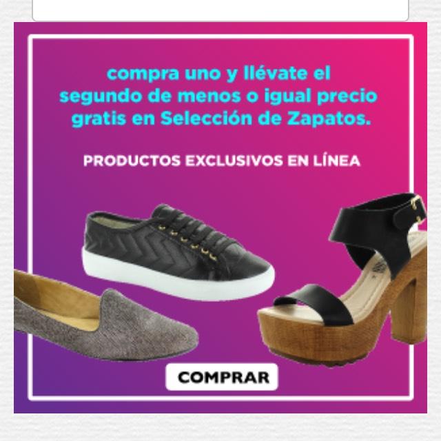 Heb en línea: zapatos 2x1