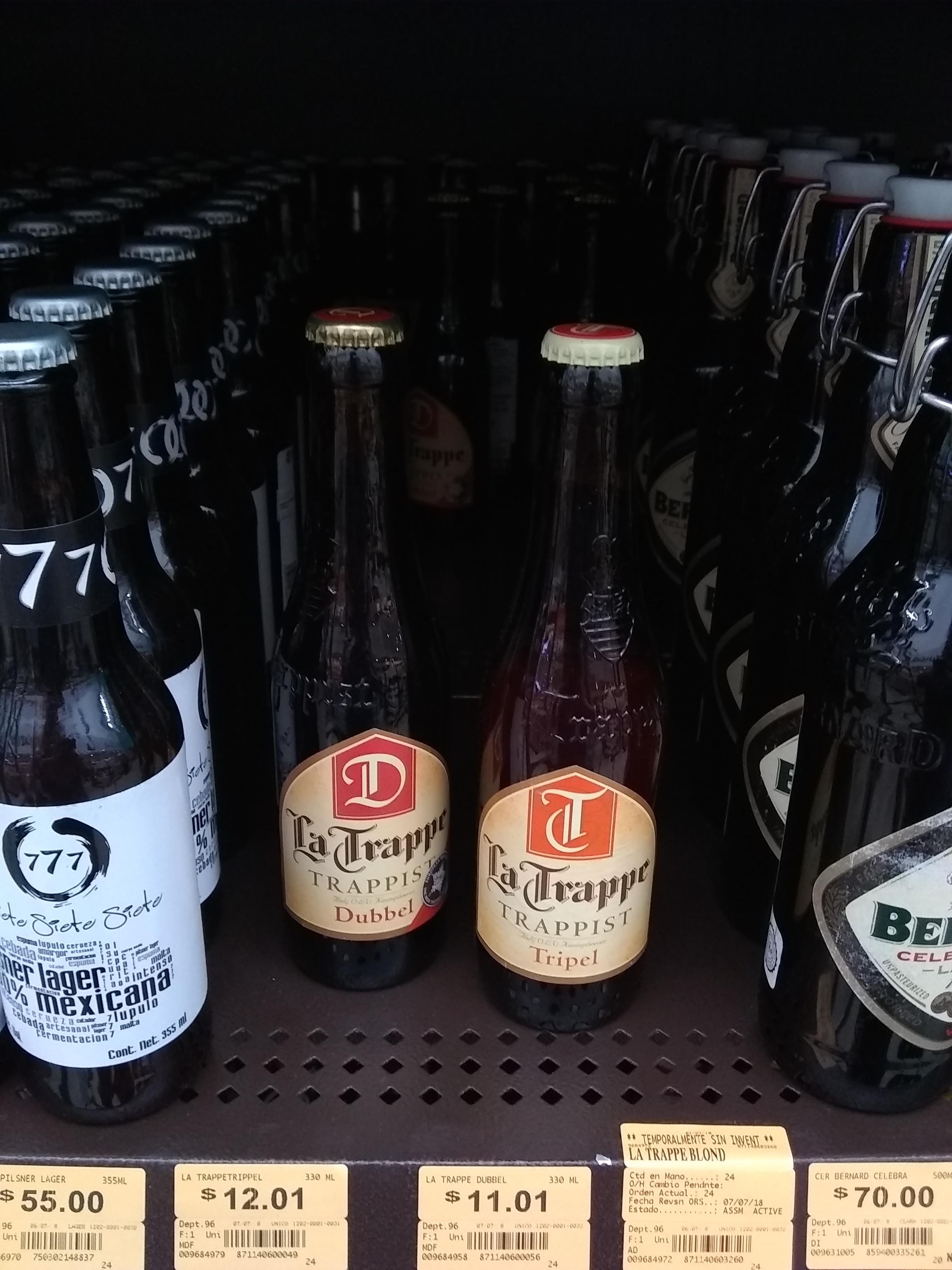 Superama: Cerveza La Trappe dubble y tripel $11 y $12