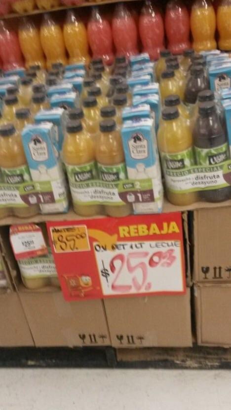 Walmart: Paquete de 2 jugos de 1lt y leche st. Clara a $25.03