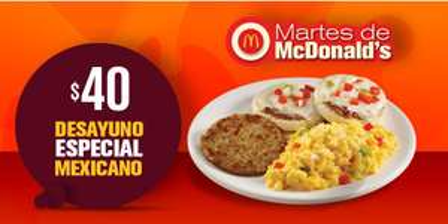 McDonald's: Desayuno especial mexicano $40