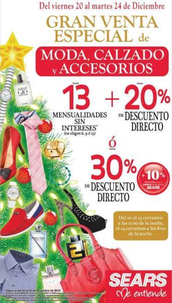 Sears: gran venta especial de moda, calzado y accesorios
