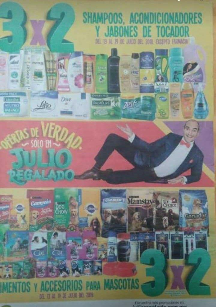 Julio Regalado en Soriana: 3x2 en todos los Shampoos, Acondicionadores y Jabones de tocador... Y Mascotas.