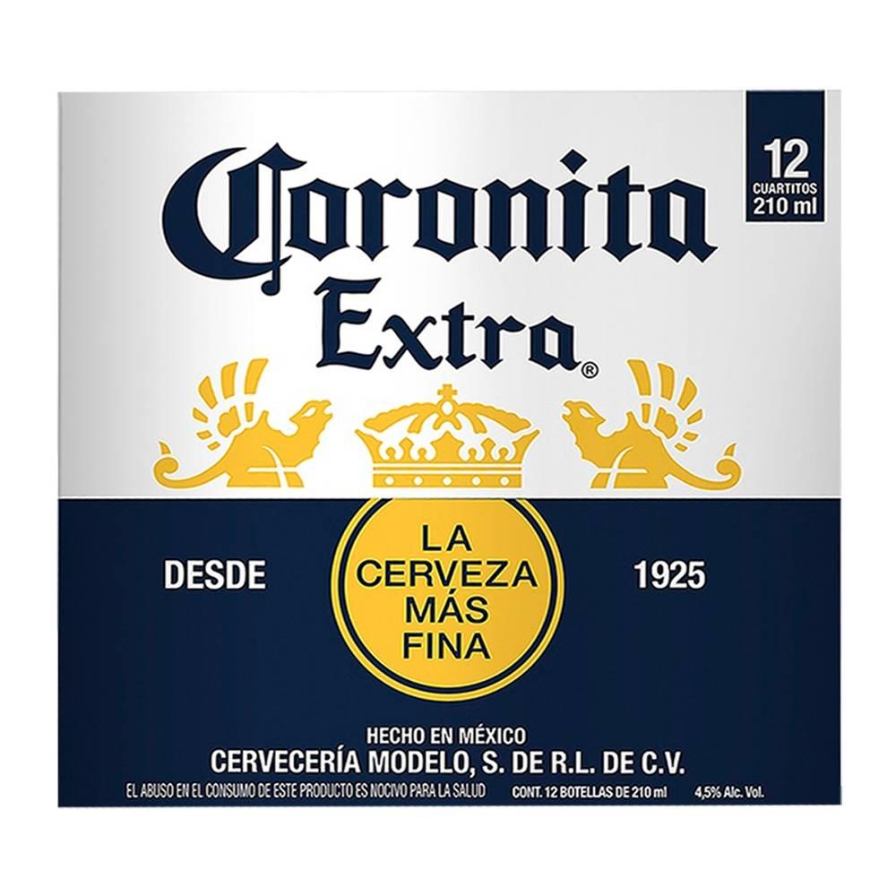 Superama: 3 cajas de 12 botellas de 210 ml c/u (7.56 L en total de Corona en cuartitos) con Envío GRATIS