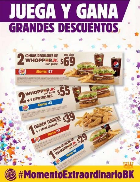 Burger King: cupones de descuento (actualizado con más cupones)