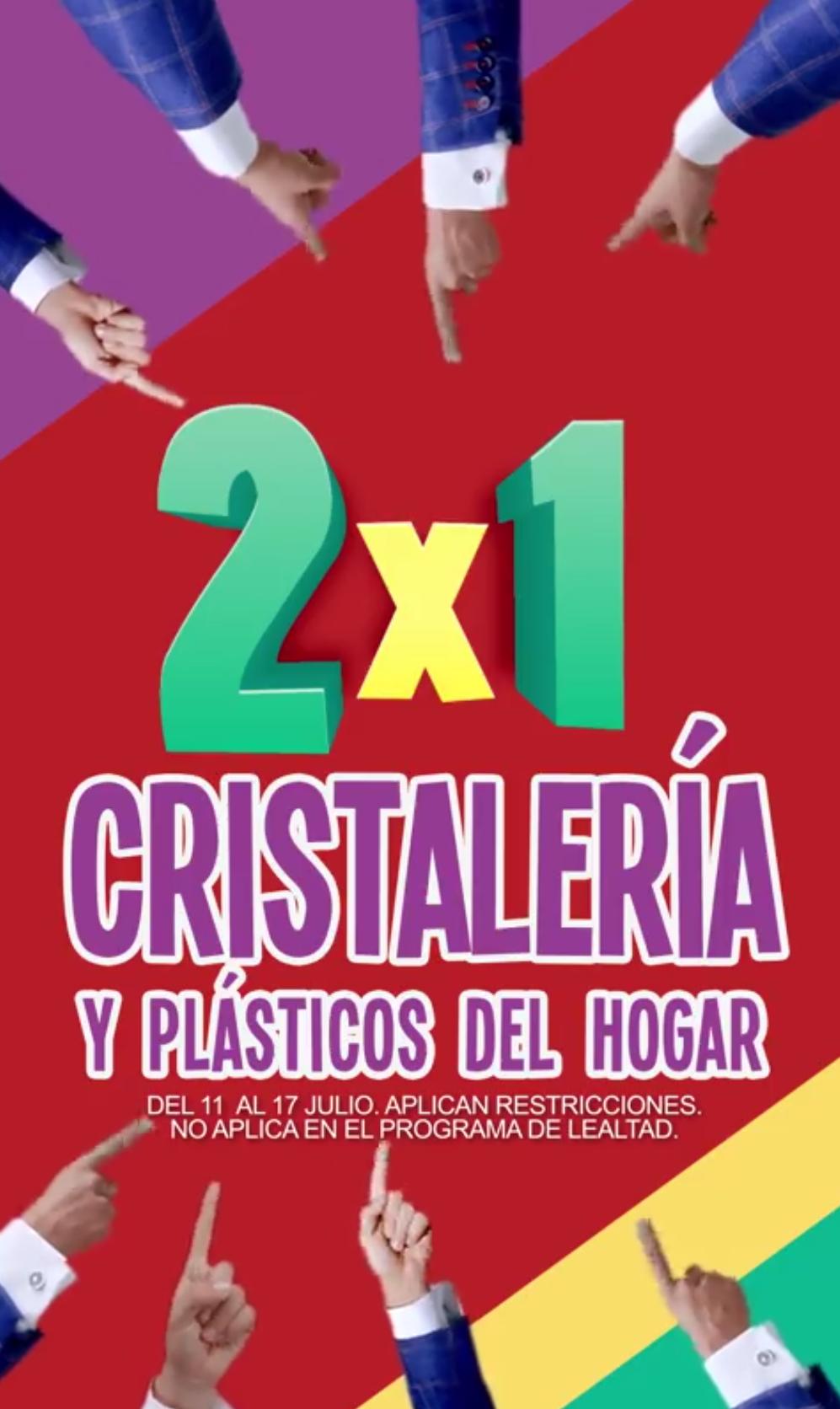 Julio Regalado 2018 en Soriana: 2 x 1 en cristalería y plásticos del hogar