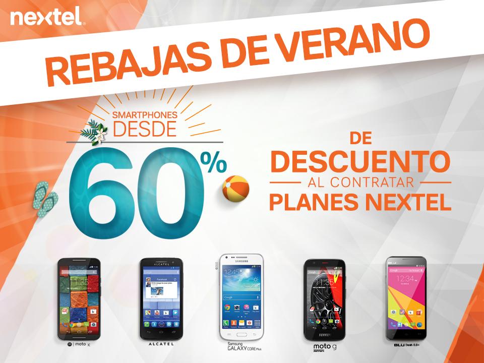 Nextel: Moto X 1G, gratis en Plan 400