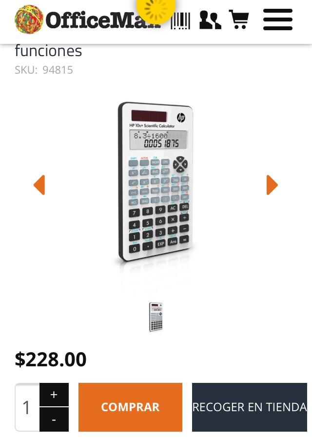 Office Max: Calculadora Cientifica HP 10s+ 240 funciones