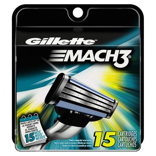 Amazon: 15 piezas para Gillette Mach 3
