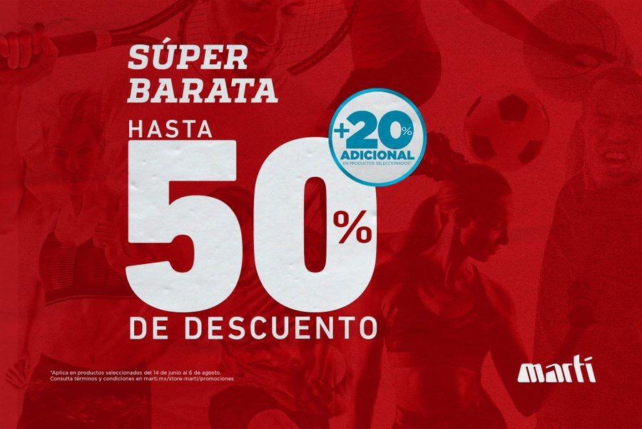 Martí: Rebajas de hasta el 50% + 20% adicional