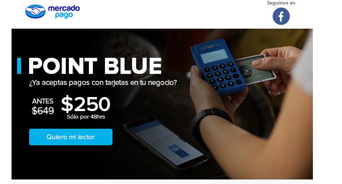 Mercado Pago: Point Blue - Lector De Tarjetas Con Conexión Bluetooth