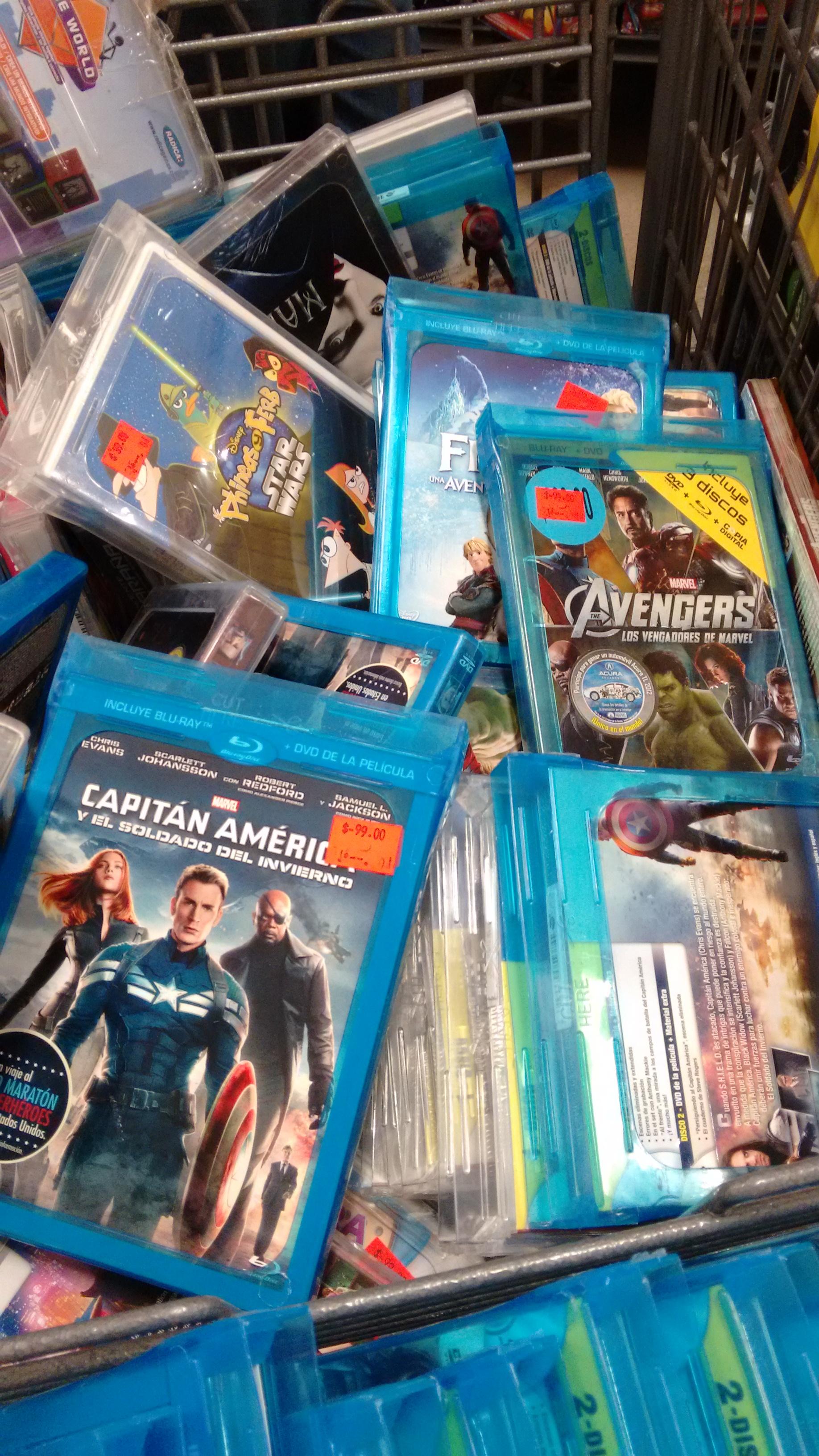 HEB: muchas películas DVD y BLU-RAY a $99