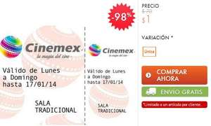 Linio: boletos de Cinemex a $1