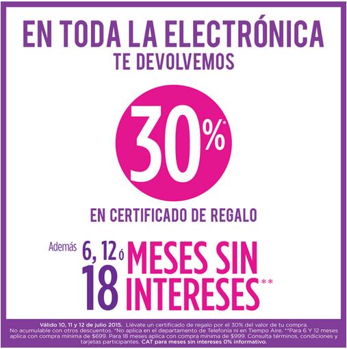 Suburbia: 30% en certificado de regalo en Electrónica