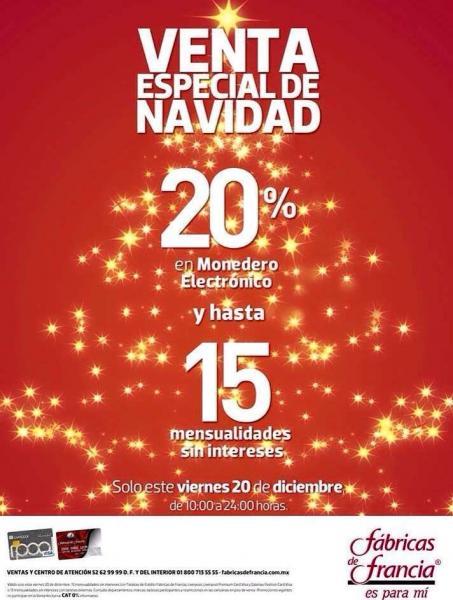 Venta Especial de Navidad Liverpool y Fábricas de Francia diciembre 20 y 21