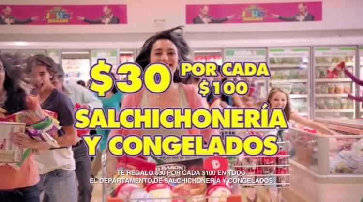 Ofertas de Julio Regalado 2015 en La Comer: $30 pesos de descuento por cada $100 de compra en salchichonería y congelados