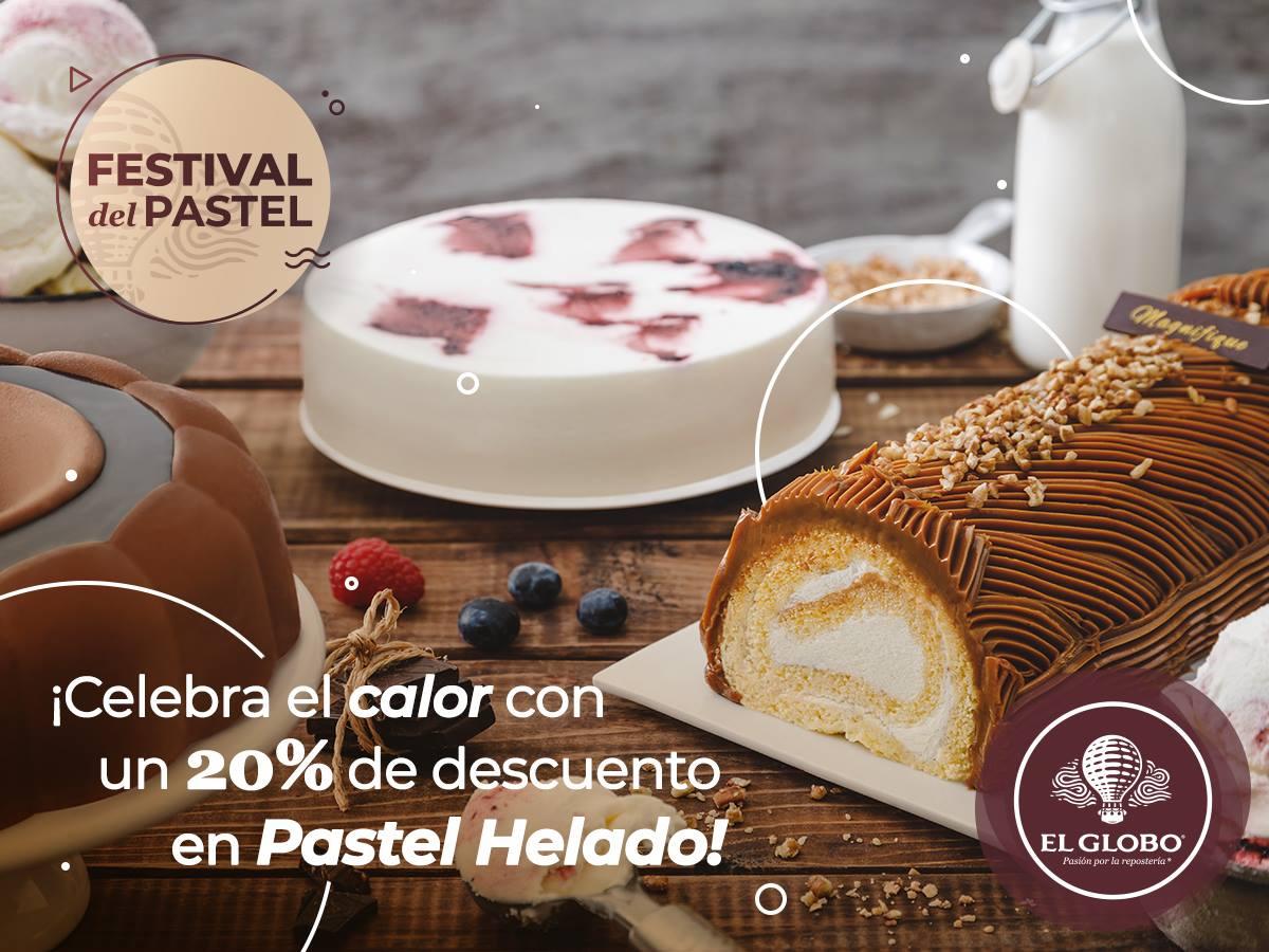 El Globo: Cupón 20% de descuento en pastel helado