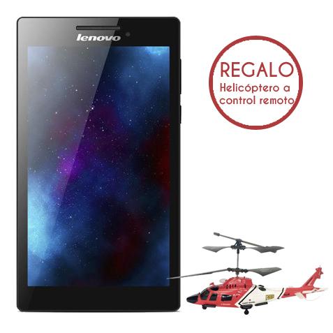 Office Max: Tablet Lenovo Tab 2 A7-10F y helicóptero de regalo