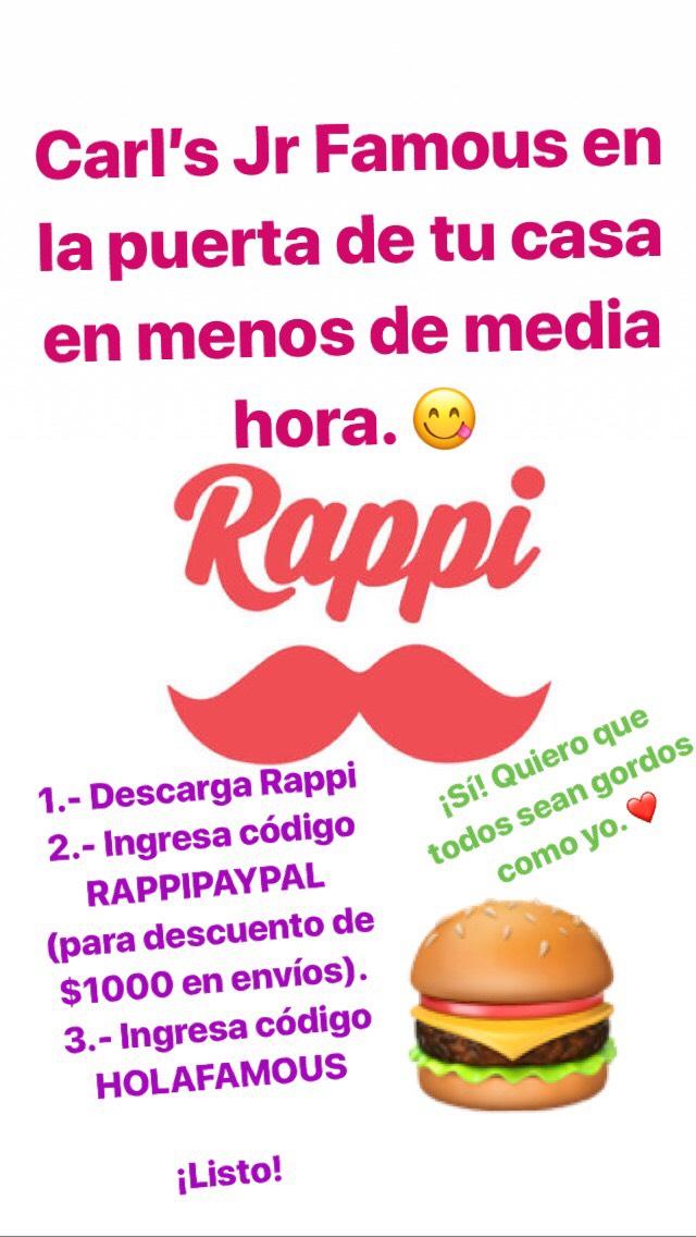 Rappi: cupón para Famous Star gratis (Usuarios nuevos)