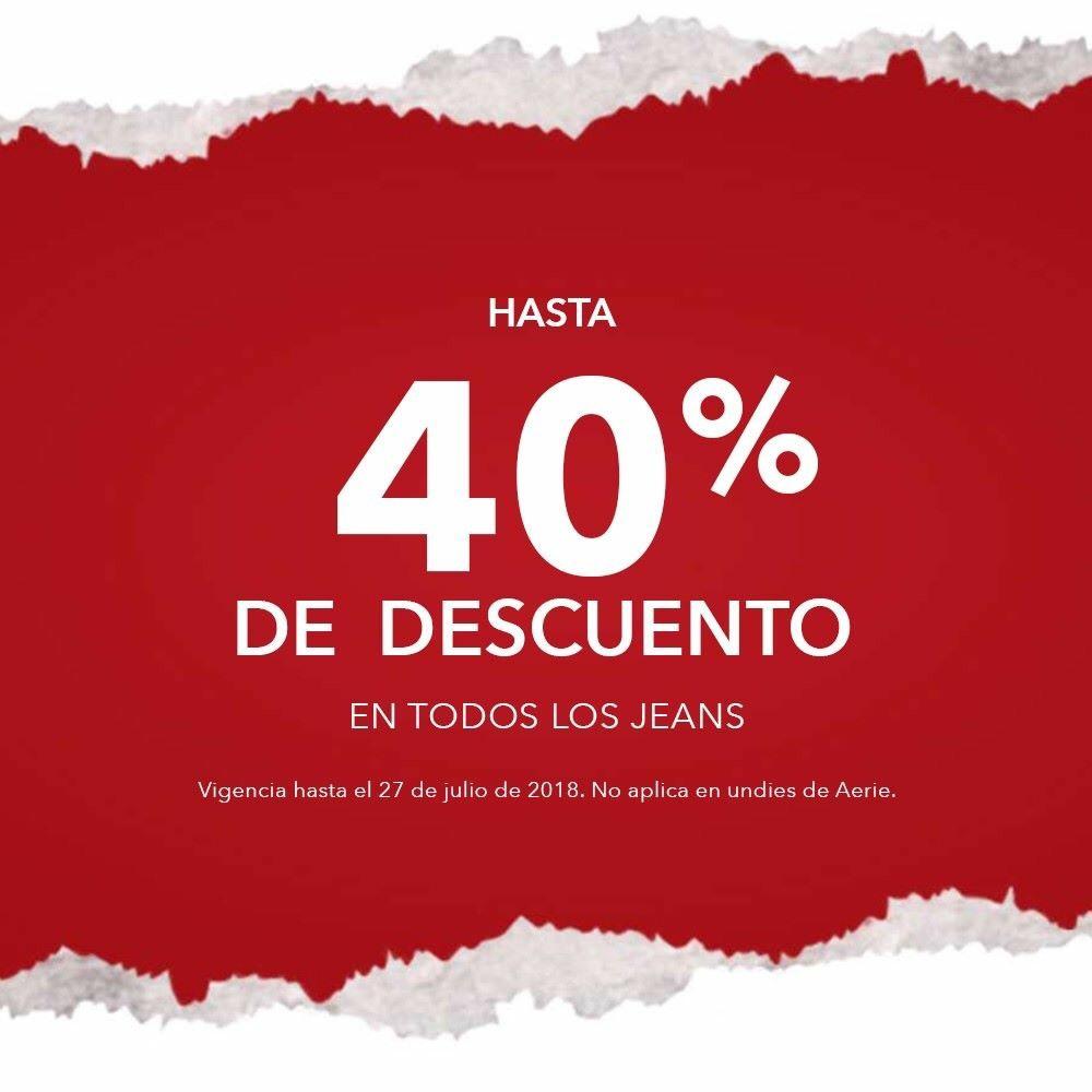 American Eagle: Hasta 40% de descuento en todos los Jeans