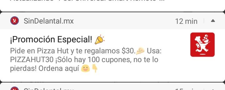 Sindelantal: cupón $30 para PizzaHut