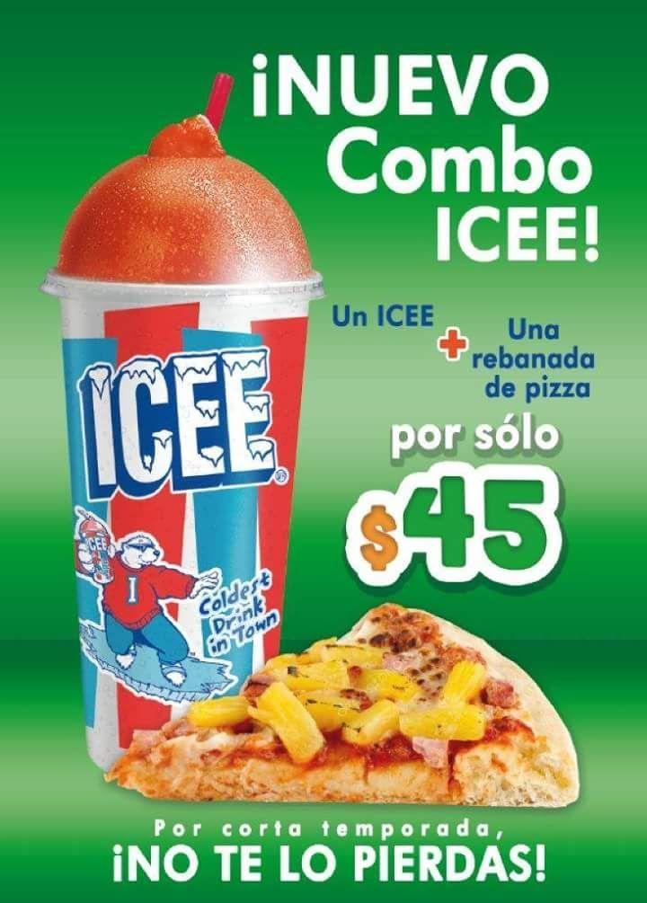 Julio Regalado 2018 en Mega Soriana: Icee + rebanada de Pizza a $45