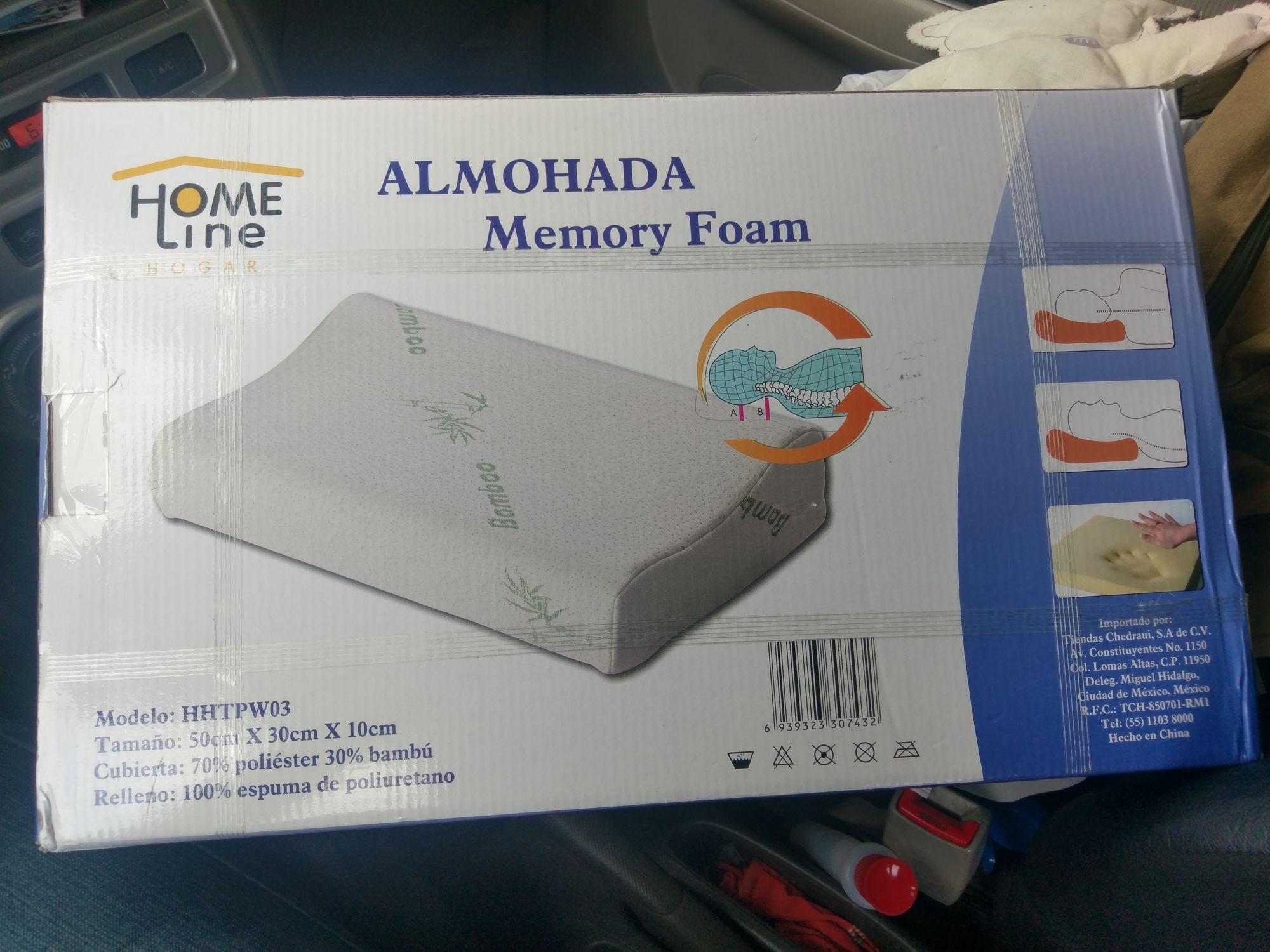 Chedraui: Almohada Memory Foam  Home Line