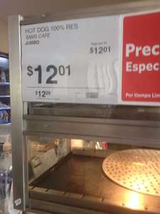 Sam's Club: Precio especial en hot dog ($12)