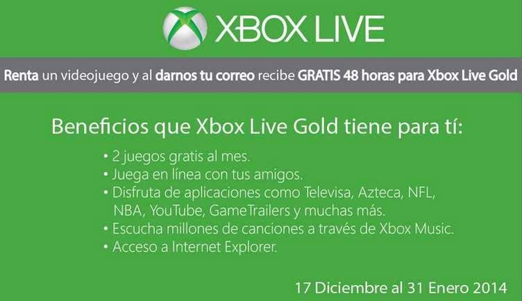 Blockbuster: 2 días de Xbox Live Gold rentando un videojuego