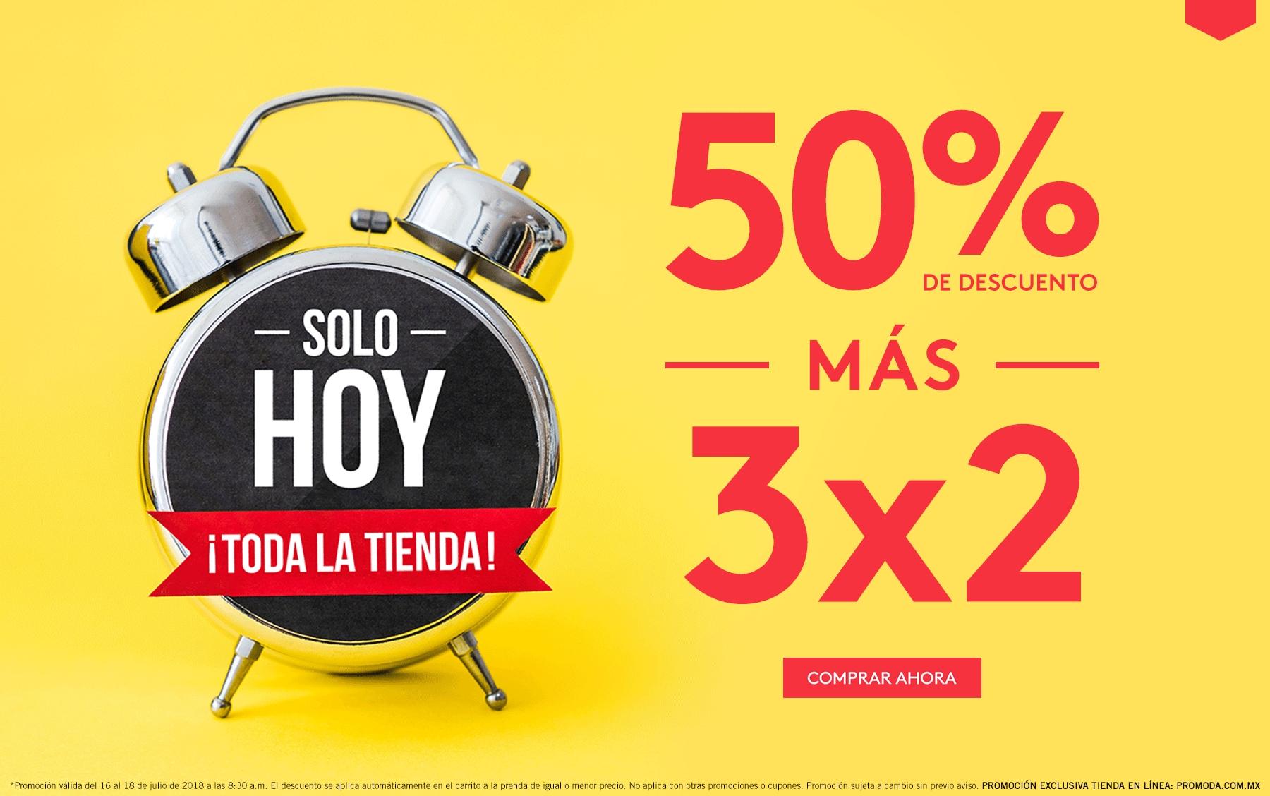 Promoda: 50% de descuento + 3 x 2 en toda la tienda en línea