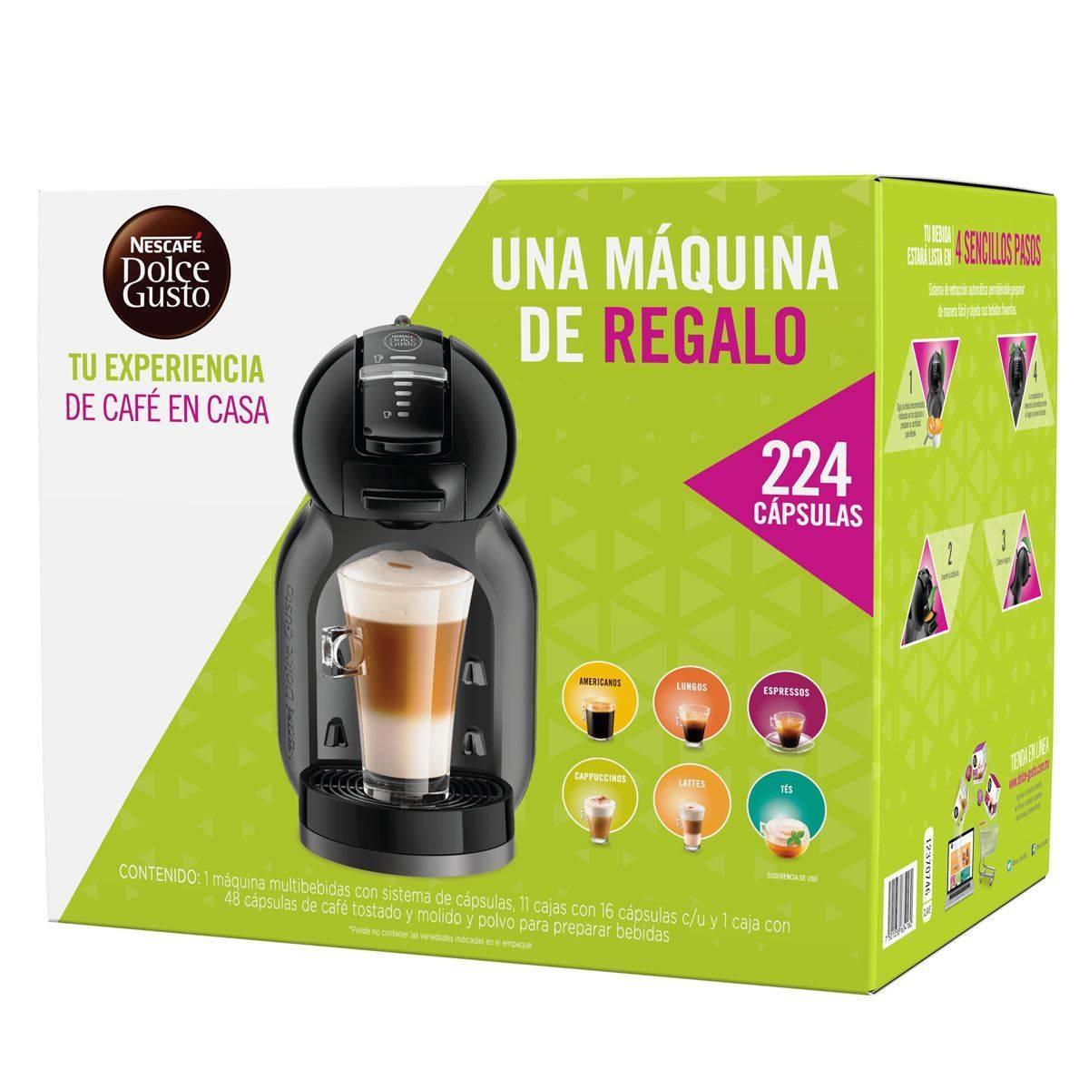 Claro Shop: Cafetera Minime dolce gusto + 224 capsulas