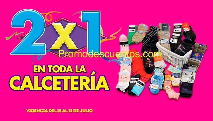 Ofertas de Julio Regalado 2015 en La Comer: 2x1 en toda la Calcetería