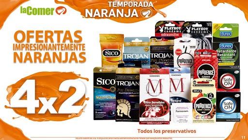 Julio Regalado 2018 La Comer: Preservativos al 4x2