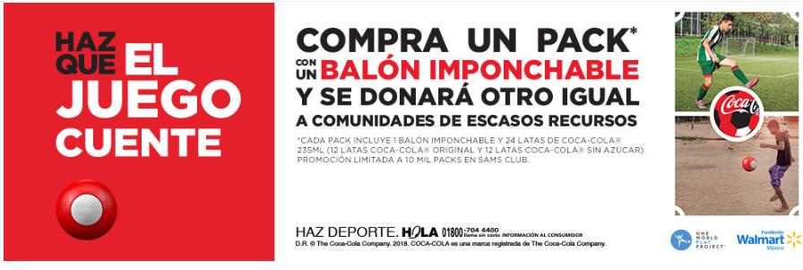 Sam's Club: Refresco Coca-Cola Balón imponchable 24 pzas de 235 ml