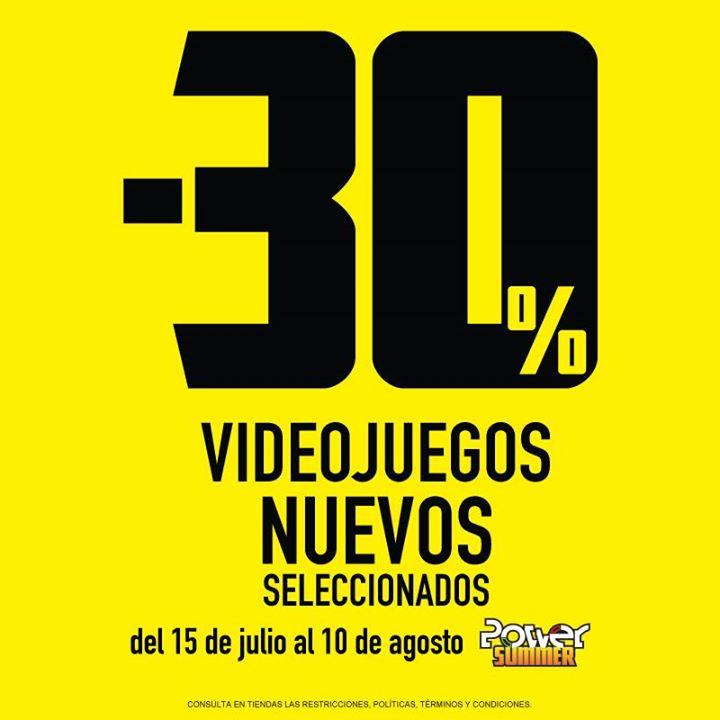 Blockbuster: 30% descuento en videojuegos seleccionados