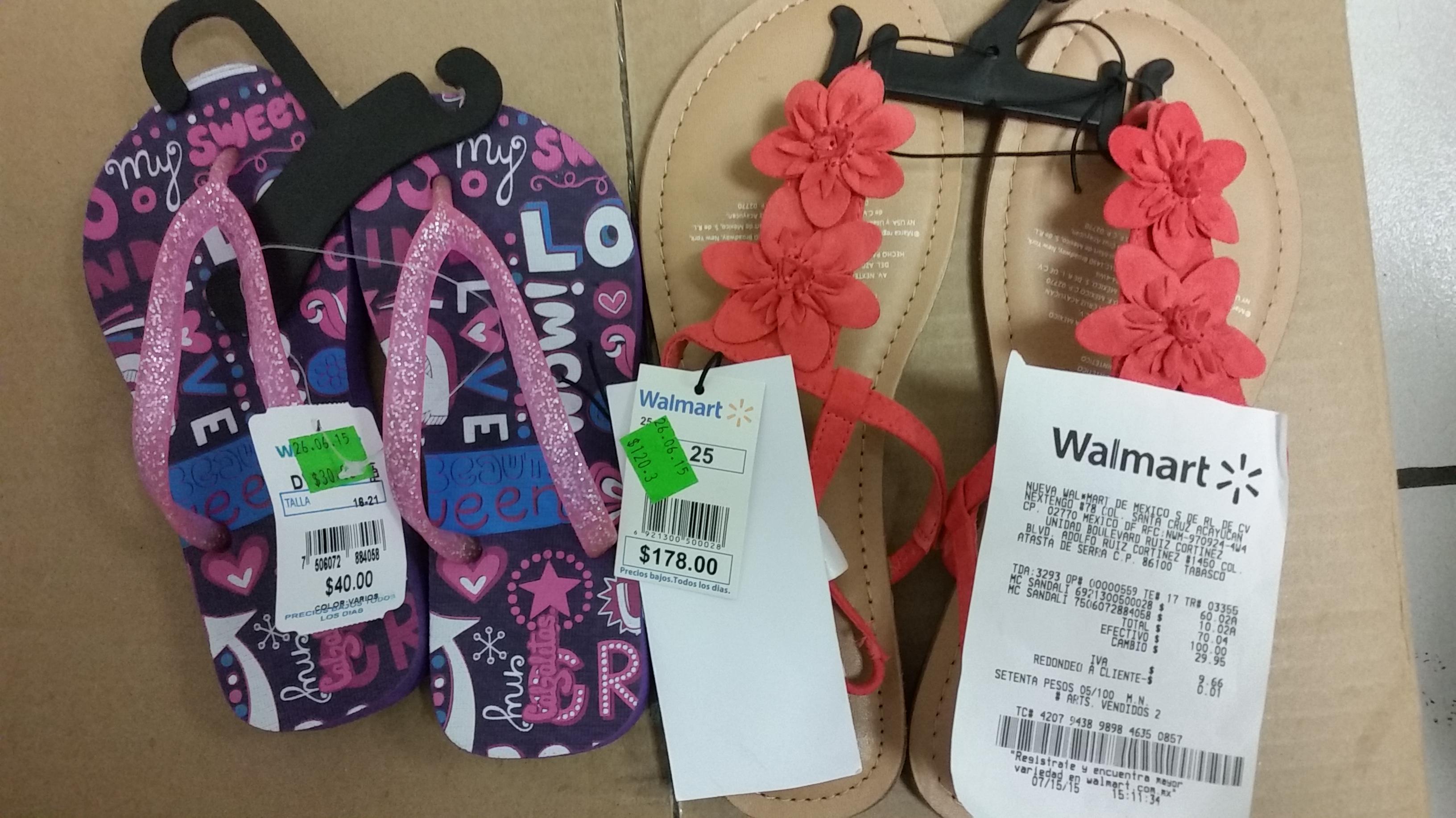 Walmart: liquidacion en zapatos para dama $60 y niños $10