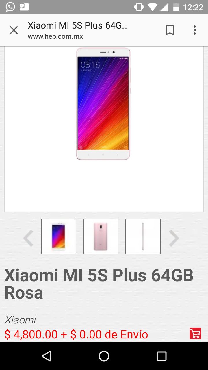 HEB: Xiaomi Mi 5s plus 64gb rosa