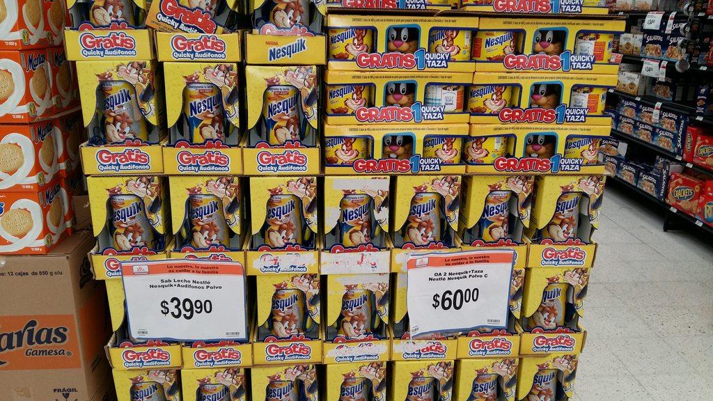 Chedraui: Dos latas de Nesquik y taza gratis por $60