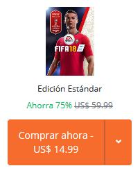 Origin: FIFA 18 Edición Estandar 75% de descuento