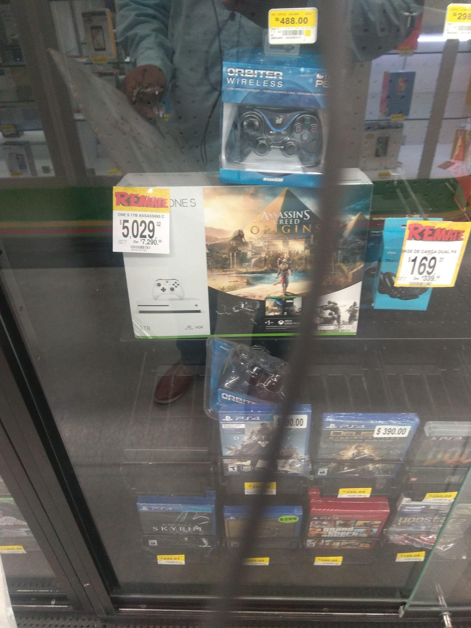 Bodega Aurrera: Xbox One S Assains Creed Origins 1TB