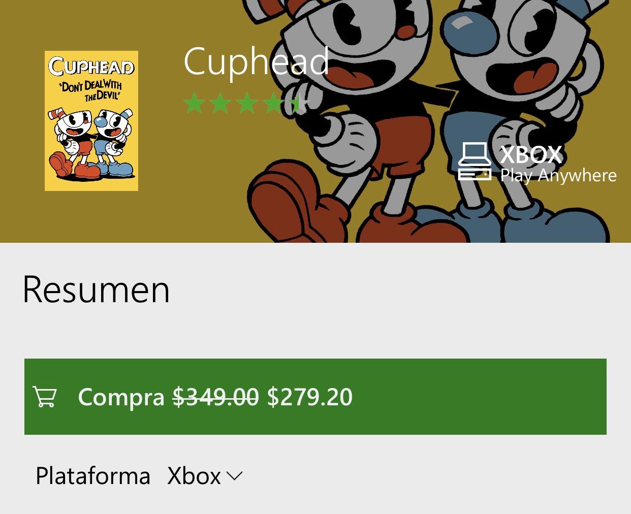 Microsoft Store: Cuphead