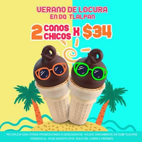 Dairy Queen: Dos conos chicos cubiertos de chocolate