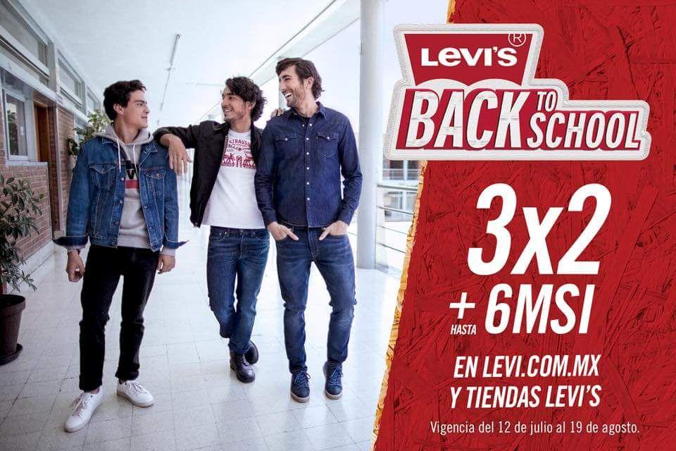 Levi's: 3X2 y hasta 6MSI