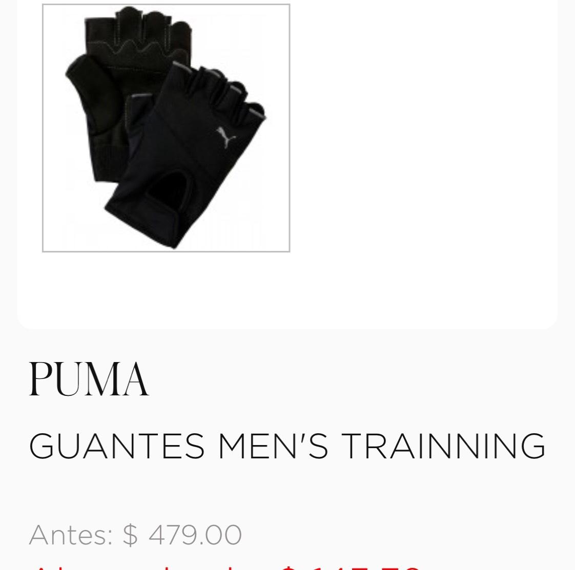 Palacio de Hierro: 70%  menos en Guantes para entrenamiento, varias marcas y modelos