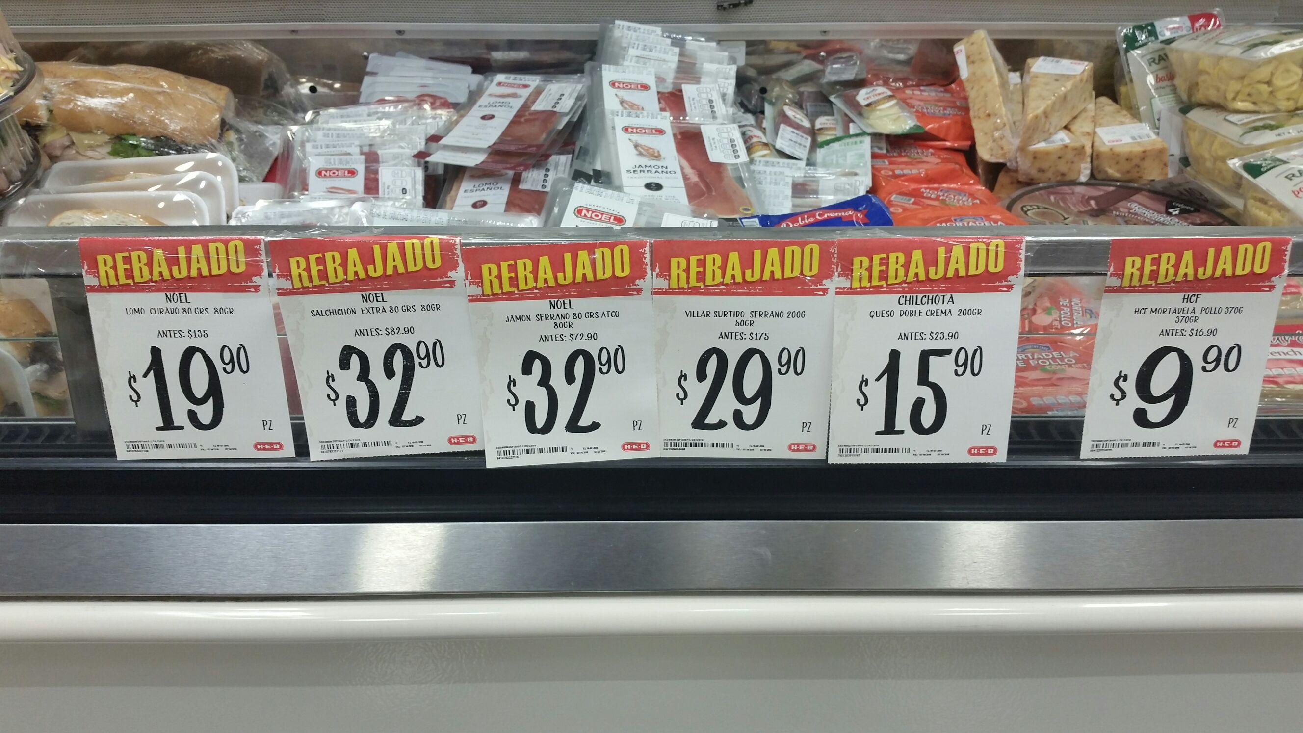 HEB: Embutidos curados Villar y Noel desde $19.90