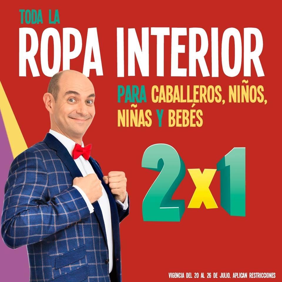 Julio Regalado 2018 en Soriana: 2 x 1 en ropa interior para caballeros, niñas, niños y bebés