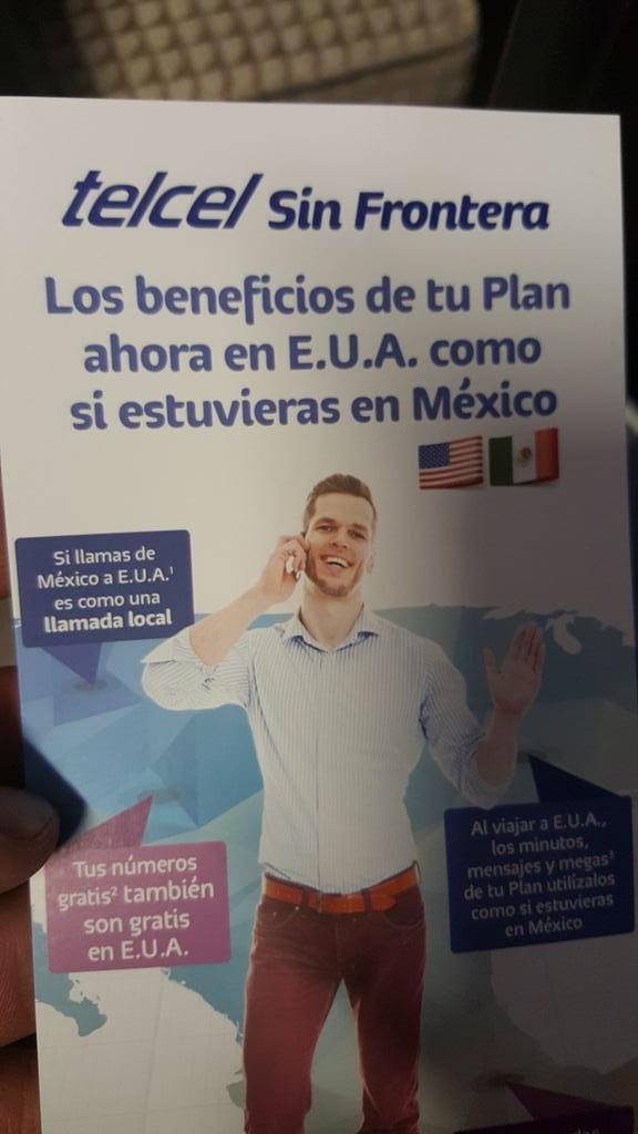 Telcel Sin Fronteras: roaming internacional