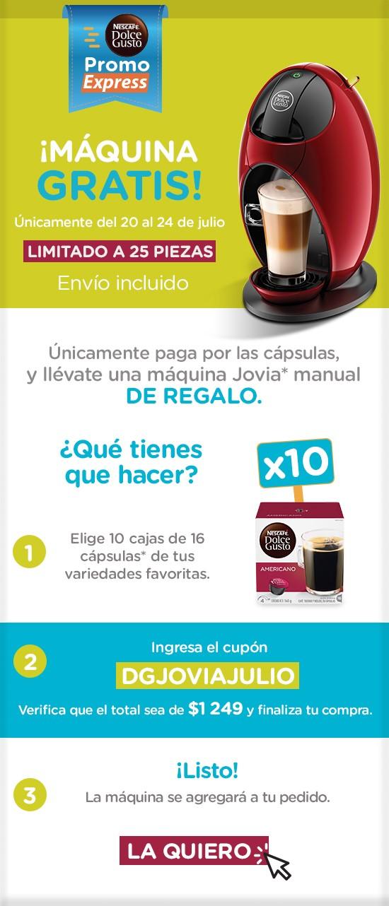 Dolce Gusto Online: Máquina GRATIS comprando 10 Cajas de Dolce Gusto + Envío GRATIS