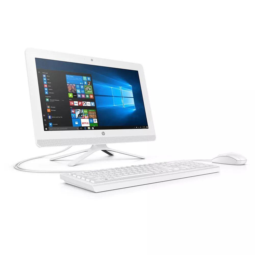 """Elektra: All in One HP 20-c018la AMD A4 RAM 4GB DD 500GB 10H WLED 19.5"""" - Blanc"""